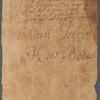 Handwritten Bible record of Johannis Tiebout and Marya Van Deventer, m. 1717; Nicholas Vechte and Cornelia Van Duyn, m. 1726: with information in English and Dutch on births, marriages and deaths, ca. 1704-ca. 1822