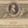 On my Lady Dorothy Sidney's picture