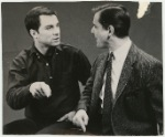 George Maharis and William Daniels in a scene from the stage production of The Zoo Story