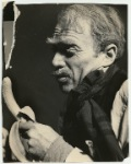 Donald Davis as Krapp in a scene from the stage production of Krapp's Last Tape