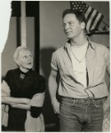Sudie Bond and Ben Piazza in a scene from the stage production of The American Dream
