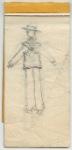 Sketch of Viola as male sailor