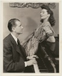 Elliott Nugent and Katharine Hepburn at piano in the stage production Without Love