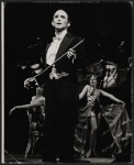 Joel Grey and ensemble in the stage production Cabaret