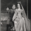 William Squire and Janet Pavek in the stage production Camelot