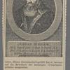 Josias Simmler. Né à Cappel dans le Cant. de Zurich le 6, Nov. 1530. Mort à Zurich le 2 Julliet 1576. Célébre Histories de la Suisse.