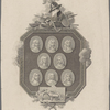 [Group of portrait medallions entitled, from upper left:] Treton. Manchester. Fairfax. Fleetwood. Lambert. Waller. Skippon. Ludlow