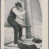 Captain Slocum builds a large canoe on which to return home after the wreck of the Aquidneck in South America.