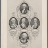 [At head of sheet:] Maryland. [Center, and then clockwise from top:] William Smallwood, J. Eager Howard. Otho H. Williams. Jas. Wilkinson. Mordecai Gist.
