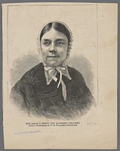 Miss Sarah F. Smiley, the Quakeress preacher. (From a photograph by W.H. Williamson, Brooklyn.)
