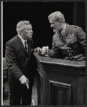 Sidney Blackmer and Philip Bourneut in the stage production A Case of Libel