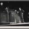 Larry Gates, Wynn Wright, William Hindman, Van Heflin and John Randolph in the stage production A Case of Libel