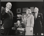 Larry Gates, Van Heflin, Joseph Julian, Sidney Blackmer and unidentified other in the stage production A Case of Libel