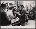Robert Goulet signs autographs during break in filming the NBC-TV television special Rainbow of Stars