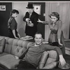 Anne Helm, John McGiver, Ralph Meeker, and Martha Scott in the stage production Cloud 7