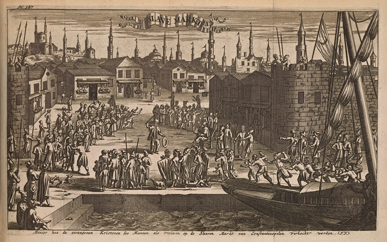 This is What Jan Luiken and Slave Markt Looked Like  in 1684