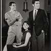 Joe Layton, Lesley Ann Warren and Elliott Gould in rehearsal for the stage production Drat the Cat!