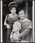 Lizabeth Pritchett and unidentified in the 1972 Broadway revival of A Funny Thing Happened on the Way to the Forum