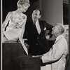 Florence Henderson, Jose Ferrer, and Noel Coward in rehearsal for the stage production The Girl Who Came to Supper