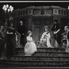 Florence Henderson and Irene Browne (center) with company in the stage production The Girl Who Came to Supper