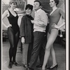Eydie Gorme, Steve Lawrence, and unidentified dancers in rehearsal for the stage production Golden Rainbow