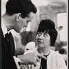 Unidentified man and Charlotte Rae in rehearsal for the stage production Half a Sixpence