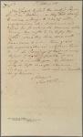 Letter to Col. Samuel B. Webb, President of Court Martial, Danbury