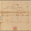 Letter to Thomas Riche, Philadelphia