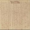 Letter to Thomas Hutchinson