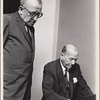Harry Kurnitz and Noël Coward in rehearsal for the stage production The Girl Who Came to Supper