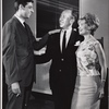 Director Joe Layton, José Ferrer and Florence Henderson in rehearsal for the stage production The Girl Who Came to Supper