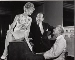 José Ferrer, Florence Henderson, and Noël Coward in rehearsal for the stage production of The Girl Who Came to Supper