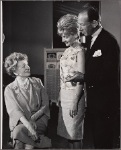 Irene Browne, José Ferrer and Florence Henderson in rehearsal for the stage production The Girl Who Came to Supper