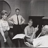 José Ferrer, Florence Henderson, rehearsal pianist Martha Johnson, and Noël Coward in rehearsal for the stage production The Girl Who Came to Supper