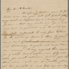 Autograph letter unsigned to Augusta White, 3 - 8 January 1817