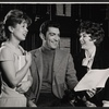 Julienne Marie, Sergio Franchi, and Elizabeth Allen in rehearsal for the stage production Do I Hear a Waltz?