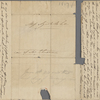 Autograph letter signed to Augusta White, 1 - 10 February 1817