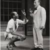 Louis Gossett, Jr. (left) and Menasha Skulnik in a scene from the theatrical production of The Zulu and the Zayda