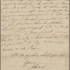 Autograph letter unsigned to Augusta White, 25 March 1817