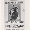 """A poster for the 1939 Noël Coward musical """"Set to Music"""""""