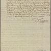 Letter to Josiah Bartlett
