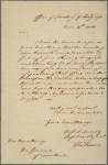 Letter to [Samuel Huntington] Governor of Connecticut
