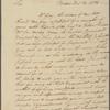 Letter to Major General Benjamin Lincoln, Philadelphia