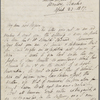 Autograph letter signed to Lord Byron, 23 April 1817