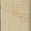 Letter to Ebenezer Thompson