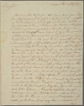 Letter to Col. Jeremiah Wadsworth, Hartford, Conn.