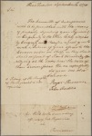 Letter to Colonel Webb, or the commanding officer of his regiment at Providence