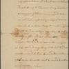 Letter to Major General Sullivan