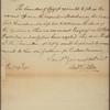 Letter to John Nixon, Chairman of Committee of Safety [Philadelphia]