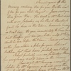 Letter to Jane Bayard, at Ravaud Kearny's, Amboy